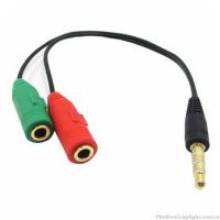 Cáp Chia Mic và Audio chuẩn 3.5 cho Điện thoại, Máy Tính