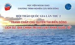 """Hội thảo Quốc tế:  """"Các vấn đề biển và Công ước Liên Hợp Quốc về Luật Biển (UNCLOS):  Chia sẻ cách tiếp cận của Châu Âu và Châu Á đối với các tranh chấp lãnh thổ"""""""