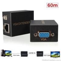 Bộ khuếch đại tín hiệu VGA Extender 60m bằng dây lan RJ45